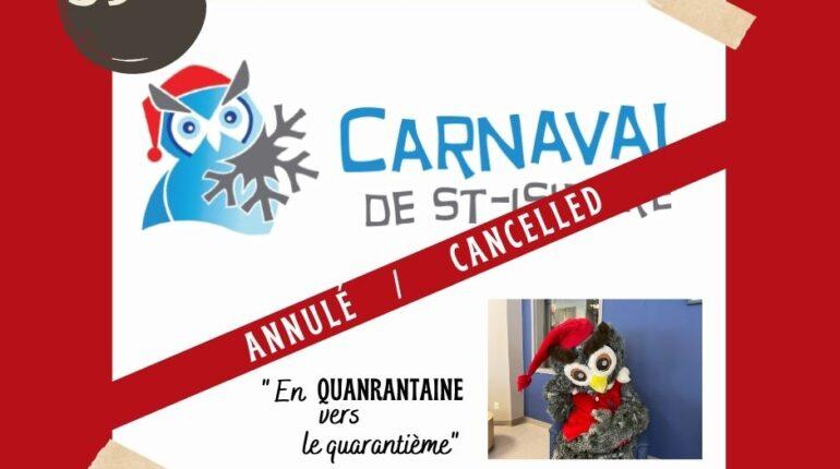 L'affiche de l'annulation du festival