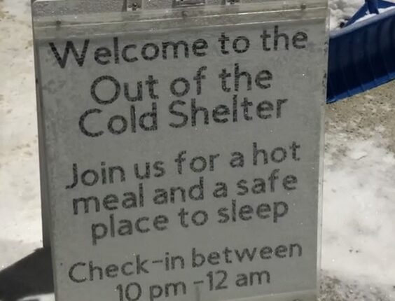 L'affiche du Out of the Cold Shelter