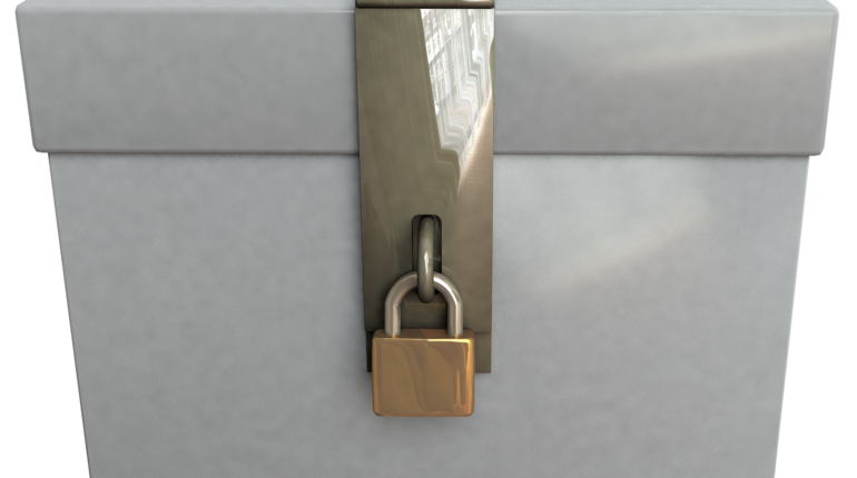 urne de vote avec un cadenas