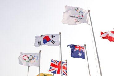 Drapeaux internationaux pour les JO paralympqies